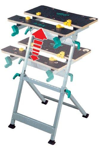 wolfcraft MASTER 600 Spann- und Arbeitstisch 6182000 – höhenverstellbar | Universell einsetzbarer & robuster Werktisch | Ideal für Heim- und Handwerker