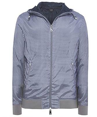 Armani Jeans Reversible Hooded Logo Jacket Grey