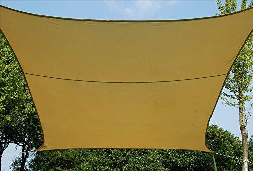 Vela ombreggiante quadrata in poliestere 160 g/mq cm. 290x290