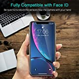 LK Screen Protector for iPhone XR, [3 PACK] [Tempered Glass][Case Friendly] DoubleDefence Technology [Alignment Frame Easy Installation] [3D Touch] with Lifetime Replacement Warranty