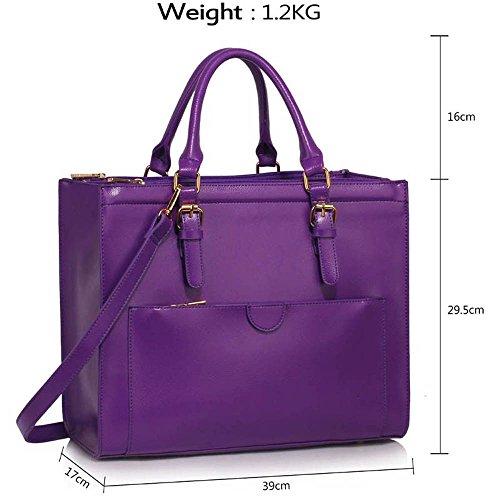 Trays for women (Braun) Haltegriffe Kunstleder Damenhandtaschen -Designer-Tasche Fronttasche AA - Lila