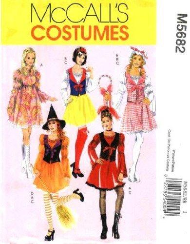 McCall 's Schnittmuster m5682Misses 'Charakter Kostüme, Übergröße 18-50