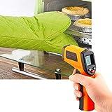 Infrarot Thermometer KüChe,BerüHrungslose LCD IR Laserthermometer, -50°C~330°C (-58 To 626F) Hochtemperatur TemperaturmessgeräT Mit LCD Anzeige Digital Laser Thermometer Pistole (Gelb)