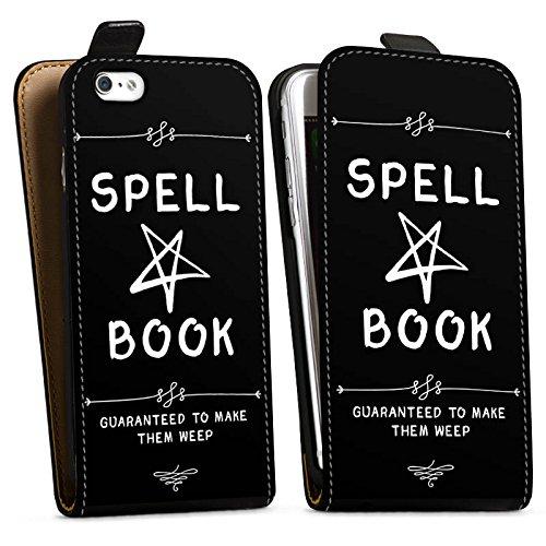 Apple iPhone 6s Tasche Hülle Flip Case Halloween Zauberbuch Pentagramm Downflip Tasche schwarz
