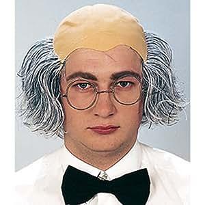Perruque papi professeur chauve avec cheveux perruque de chauve Einstein vieil homme perruque d'Einstein perruque de professeur calvitie avec cheveux