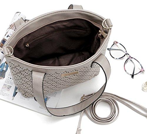 Borse Donna Keshi New Style, Borse Hobo, Tracolle, Borse, Secchielli, Borse Moda, Velour, Camoscio, Pelle Scamosciata, Tasca Marrone Scuro