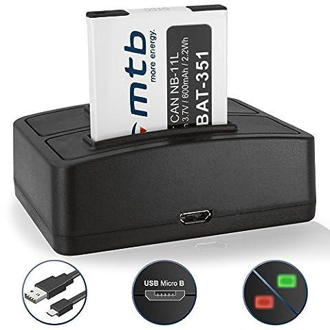 Batterie + Double Chargeur (USB) NB-11L pour Canon Ixus 175,
