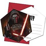 6 Einladungskarten mit Umschlag Star Wars VII