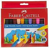 Faber Castell 554324,0-Cofanetto con 24 pennarelli Jumbo scolastici
