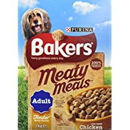 Bakers Complete Dog Food Meaty Meals Tasty Chicken, 1 kg - Pack of 4