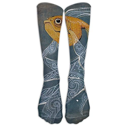 High Socks Pretty Fish Boots Long Knee Sock Crew Tube Stockings For Travel And Sport (Womens Bamboo Riding Boots)