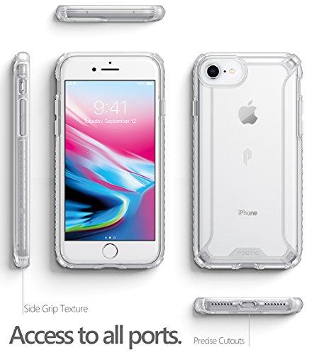 Poetic Affinity Custodia Protettiva Ibrida, TPU Presa Paraurti per Apple iPhone 7, Nero/Chiaro Chiaro TPU With Chiaro PC