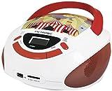 Metronic 477145 Radio Lecteur CD Enfant Circus avec Port USB/SD/AUX-IN  - Rouge et Blanc