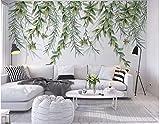 BHXINGMU Benutzerdefinierte Wandbilder Tropische Pflanzen Zweige Große Fototapeten Wohnzimmerdekorationen 150Cm(H)×200Cm(W)