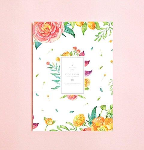Aquarell-Blumen linierte Notizbuch | Romantik • Schreibtagebuch • Notizbuch für...