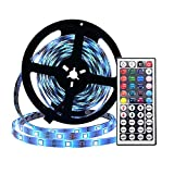 Simfonio LED Strip 5m - LED Stripes 5m 5050SMD 150 LED RGB Strip Full Kit - LED Streifen mit Fernbedienung und Netzteil