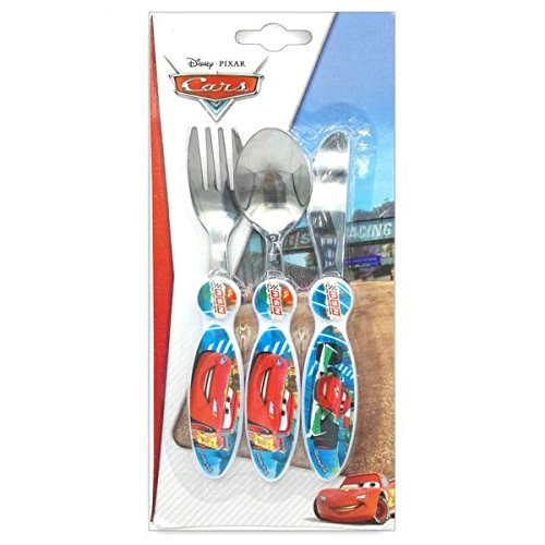 Stor, 91634, Set 3 couverts metal Disney Cars