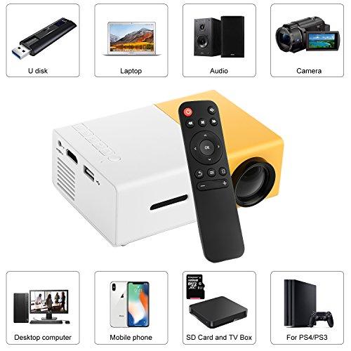 PowerLead Mini Beamer Mini geführtes 1080P volles HD Minikino-Projektor - 4