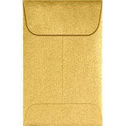 #1 Coin Envelopes (2 1/4 x 3 1/2) - Gold Metallic (1000 Qty.) | Perfect for the HOLIDAYS, Weddings, Parties & Place Cards | Fits Small Parts, Stamps, Jewelry, Seeds | 1COGLD-1M