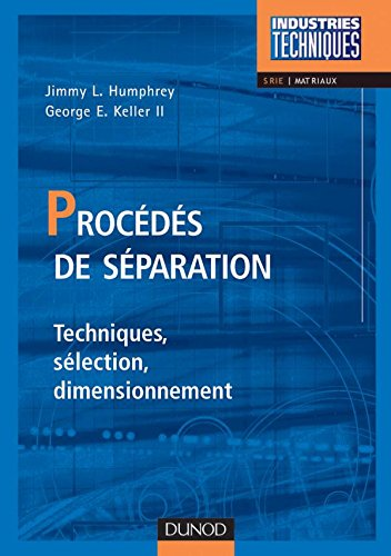 Procds de sparation - Techniques, slection, dimensionnement
