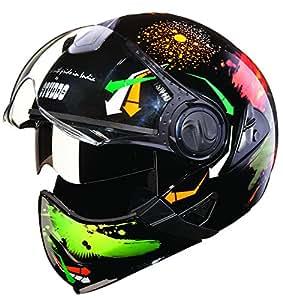 Studds Downtown D2 Full Face Helmet (Black N10, L)