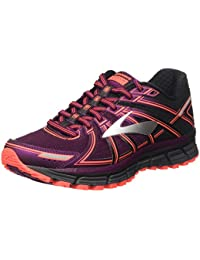 1e1c6903593 Brooks Women s Adrenaline ASR 14 Black Ebony Pickled Beet Athletic Shoe