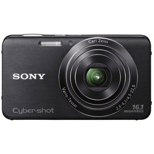 Sony DSC-W630B Cyber-shot Digital Kamera (16 Megapixel, 5x opt. Zoom, 6,7 cm (2,7 Zoll) LCD-Display, bildstabilisiert) Schwenkpanorama Aufnahme und iAUTO schwarz