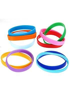 SODIAL (R) 10-Silikon-Gummi-Armband-Stulpe-Armband-Handgelenk-Band 12mm