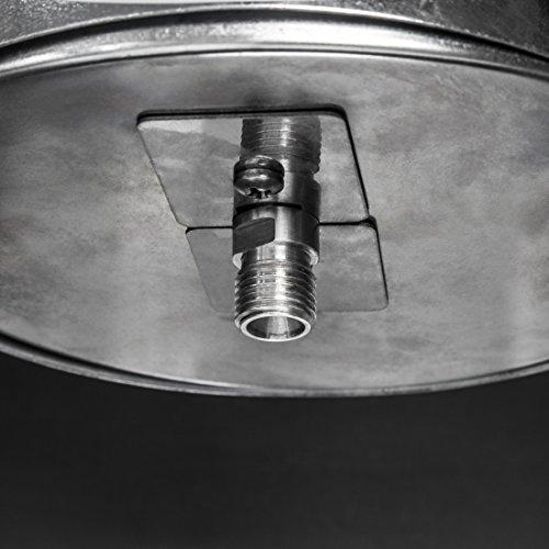 Ultranatura Edelstahl Gas-Heizstrahler GH-12 – Terrassenheizung regelbar bis 12 KW; - 8