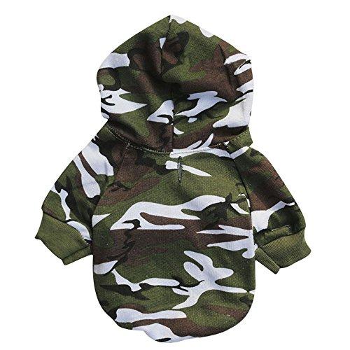 stier Hund Katze Welpen Sweatshirts Kleider von Sannysis (Camouflage, L) (Schatz Katze Kostüme)