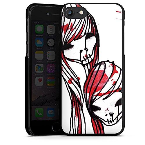 Apple iPhone X Silikon Hülle Case Schutzhülle DeadHoxtonGirls Gloria blutig Hard Case schwarz