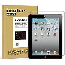 iPad 2 /3 /4 Protector de Pantalla Cristal, iVoler® Film Protector de Pantalla de Vidrio Templado Tempered Glass Screen Protector para Apple iPad 2/3/4 9.7''- Dureza de Grado 9H, Espesor 0,30 mm, 2.5D Round Edge-[Ultra-trasparente] [Anti-golpe] [Ajuste Perfecto] [No hay Burbujas]- Garantía Incondicional de 18 Meses
