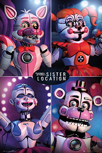 Laminated Five Nights At Freddy's Sister Location Quad Maxi Poster 61 x 91.5cm