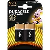 Duracell MN1604 Plus Power 9v Batteries, 2 Batteries