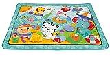 Fisher-Price – Große Spiel- und Krabbeldecke mit Tiermotiven und Babyspielzeug, 1 x 1.50 m, blau - 8