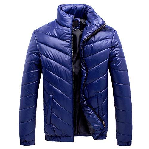 KPPONG 2018 Herren Winter Casual Zipper Tasche Volltonfarbe Stehkragen Twill Casual Jacket Stand Down Feder Baumwolle Jacke Mantel Top