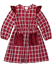 Masala Baby Little Girl's Eve Dress Tartan Dress