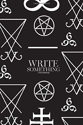 Notebook - Write something: Seamless pattern with occult symbols Leviathan Cross, pentagram, Lucifer sigil and 666 the number of the beast notebook, ... College Ruled Paper, 6 x 9 inches (100sheets)