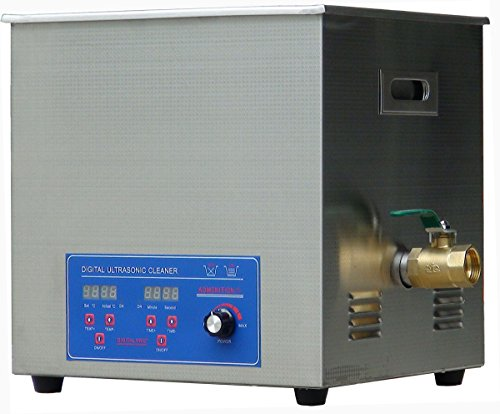 120KHZ stainless steel Industrial digital Ultrasonic Cleaner 10L for  cleaning jewelry, medical and dental equipment, tools