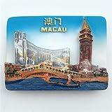 Imán de nevera de polirresina 3D de Jian Ai Casino Macao, famosa ciudad de juegos