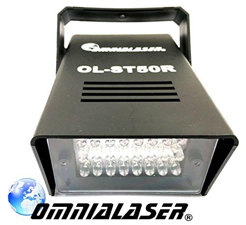 OmniaLaser OL-ST50R Lichteffekt Stroboskoplampe LED rot (Stroboskop-licht Pistole)