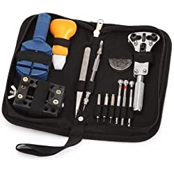 Coco Digital Portable 13pcs Watch Repair Tool Kit Link Remover Back Holder Case Opener Screwdrivers Back Remover