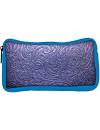 Snoogg Eco Friendly Canvas Blue Abstract Designer Student Pen Pencil Case Coin Purse Pouch Cosmetic Makeup Bag