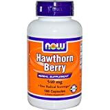 Now Foods, Hawthorn Berry, 550 mg, 100 Capsules
