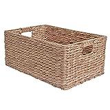 Mimbre cesta de almacenamiento, estante cajón–jacinto, natural, Large - L 45 x W 30 x H 20 cm