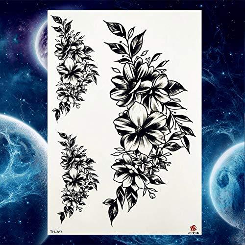 Fctgy tatuaggio moda donna bracciale fiore nero art tattoo adesivi sketch tatuaggi temporanei ragazze temporanee rose, gth387