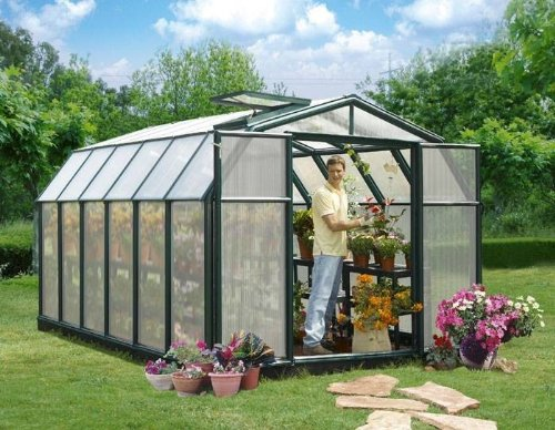 GH 46 Gewächshaus Hobby Gardener 383x259x207 cm inklusive Fundament RION