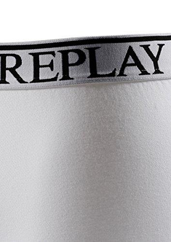 Replay Herren Boxershorts 3er Pack TM605 Weiß