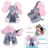 Flappy Elephant Pink Peek-a-boo elefante cantante giocattolo morbido peluche giocattolo farcito bambini animati