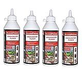 CleanPrince 4 Stück Set Ungezieferpuder Ungeziefer-Puder 500 ml biologisch Silberfische Insekten Milben Küchenschaben Krabbeltiere Kellerasseln Insektenpuder Köder - ungiftig f. Menschen/Haustiere